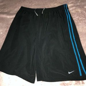 Black and Blue Athletic Nike Shorts